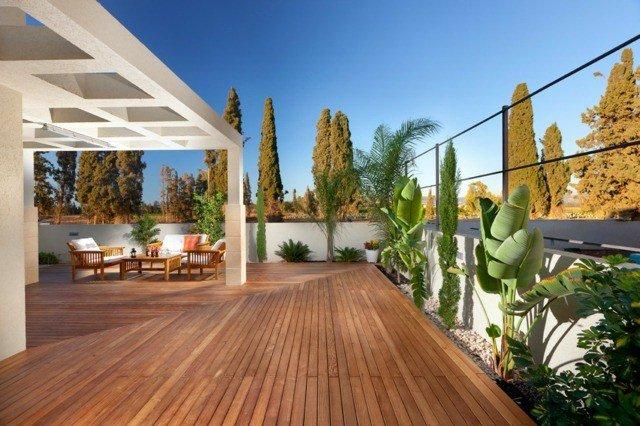 Terrasse en bois pays basque Landes